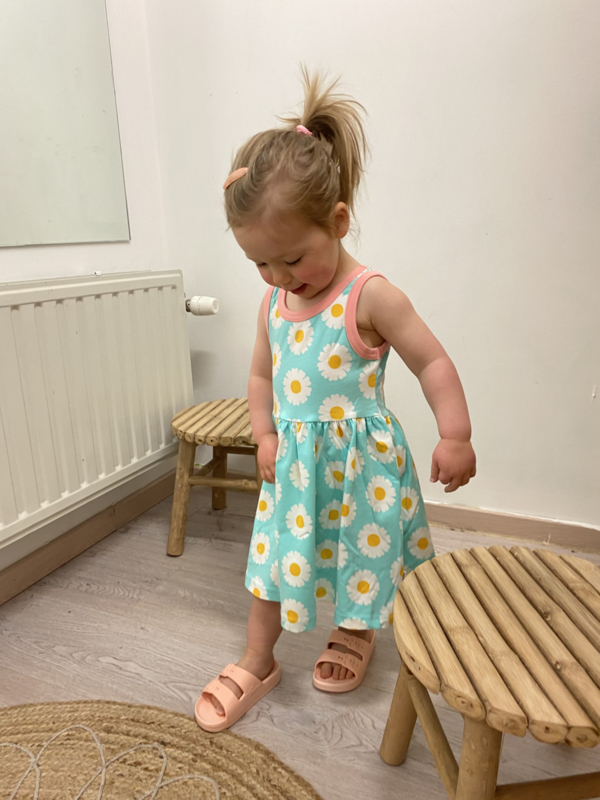 Maxomorra - Dress Spin No Sleeves Daisy