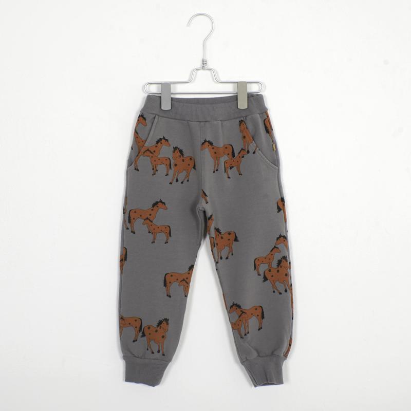 Lötiekids - Pants Horses Grey