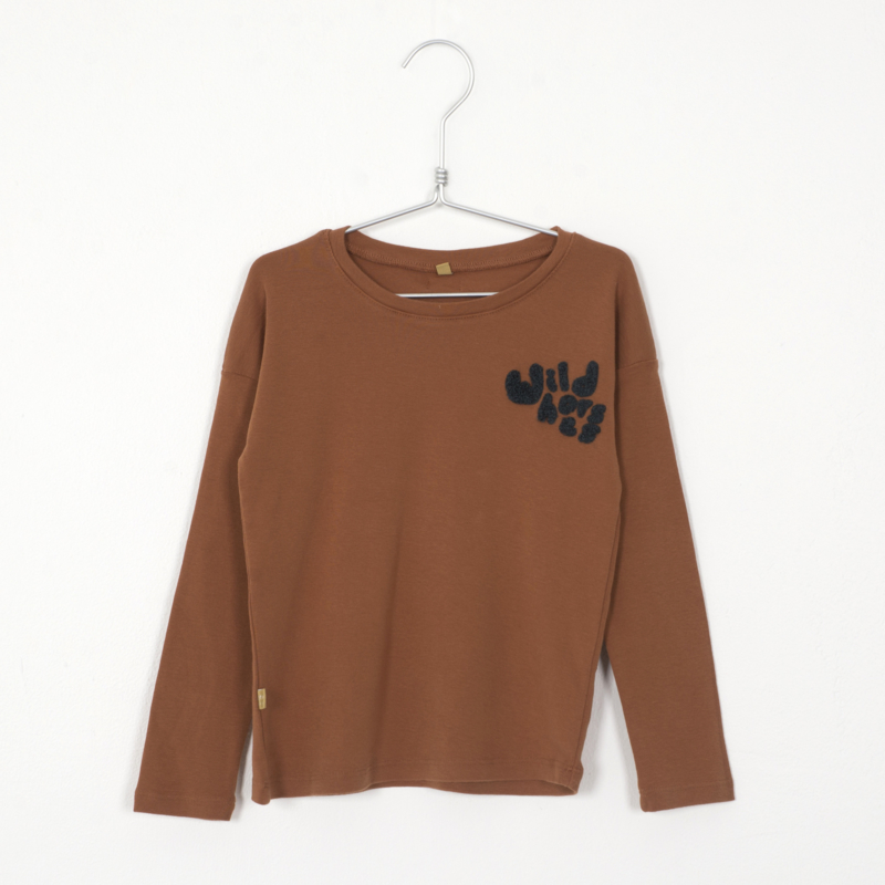 Lötiekids - Longsleeve Wildhorses Embroidery Cinnamon