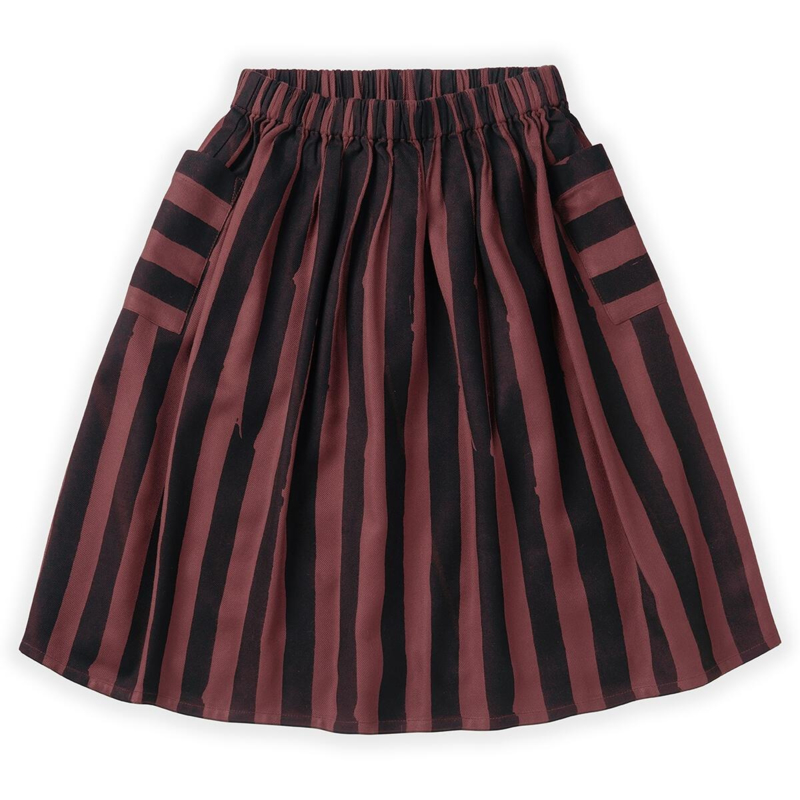 Sproet&Sprout - Midi Skirt Painted Stripe Fig