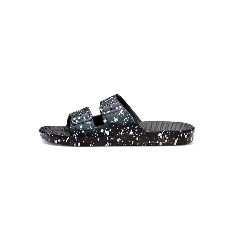 Freedom Moses - Black Splatter Slipper (fancy)