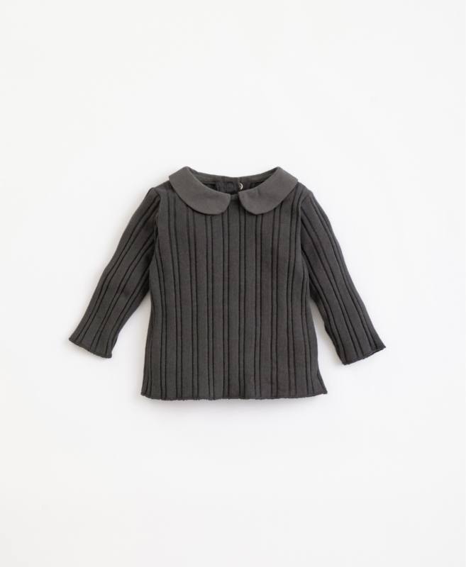 Play Up - Rib T-Shirt with Collar Frame