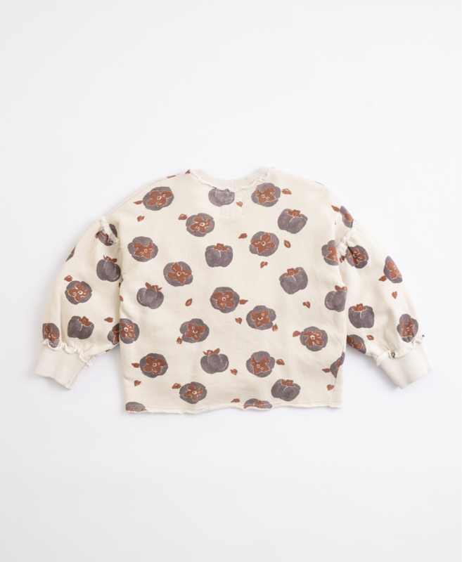 Play Up - Cotton Jersey with Persimmons Print Miro