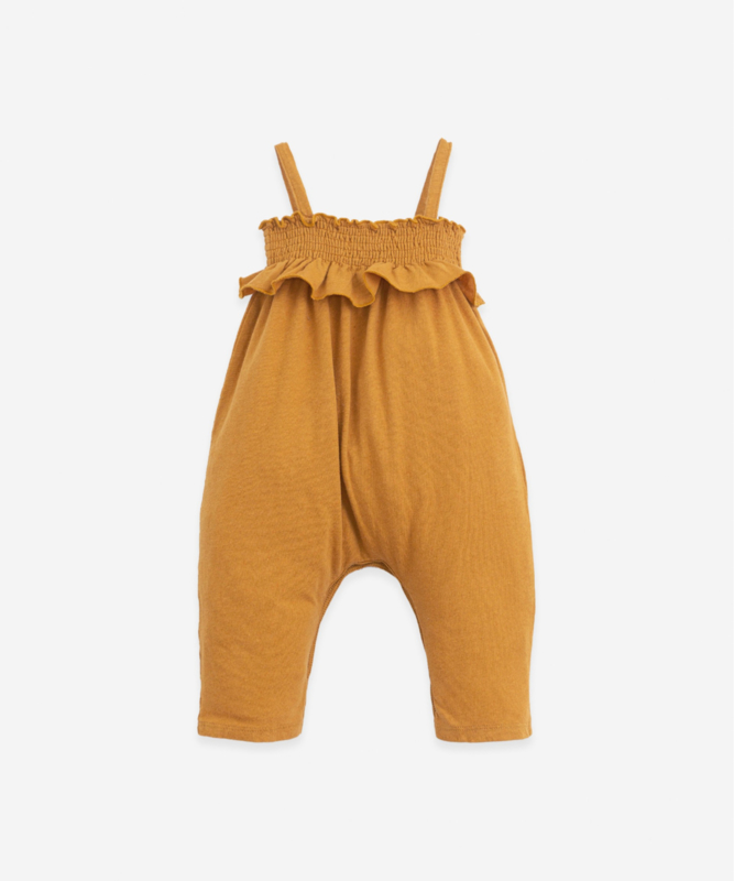 Play Up - Jumpsuit with Elastic Chest Hazel