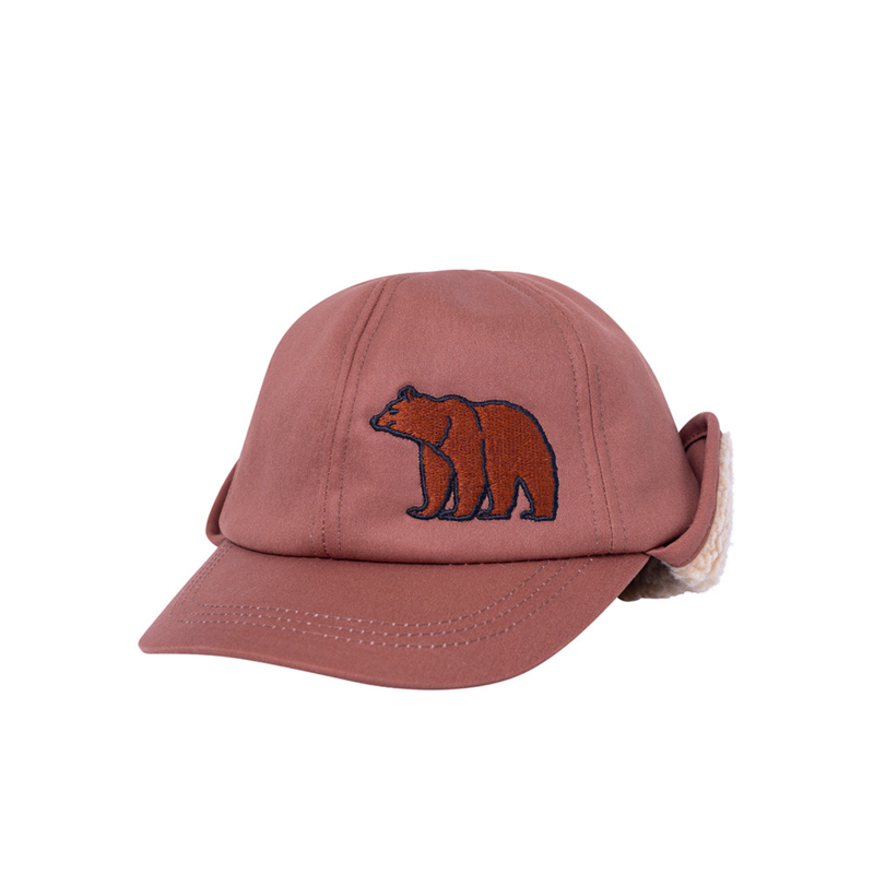 Carlijn Q - Cap with Embroidery en Teddy Lining Grizzly