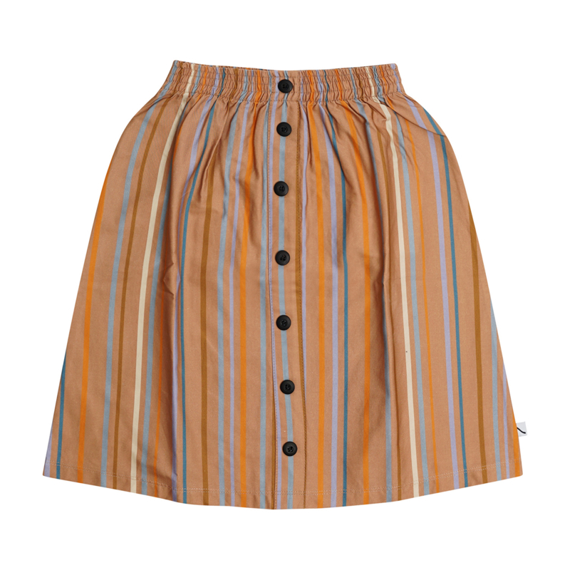 Carlijn Q - Longskirt with Buttons Multi-Color Stripes