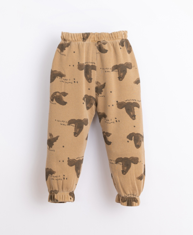 Play Up - Trousers with Pockets and Dog Print Paper