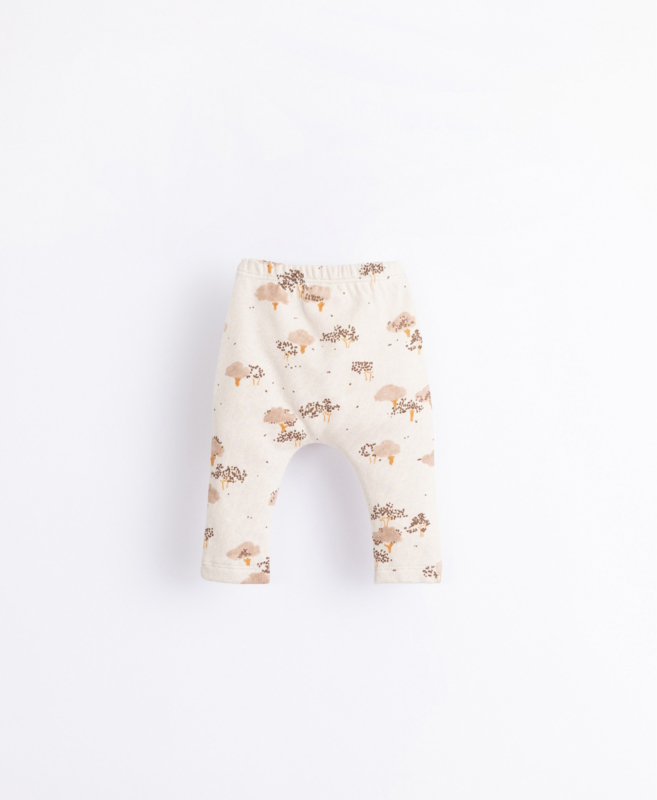 Play Up - Leggings in Organic Cotton with Trees Print Miro