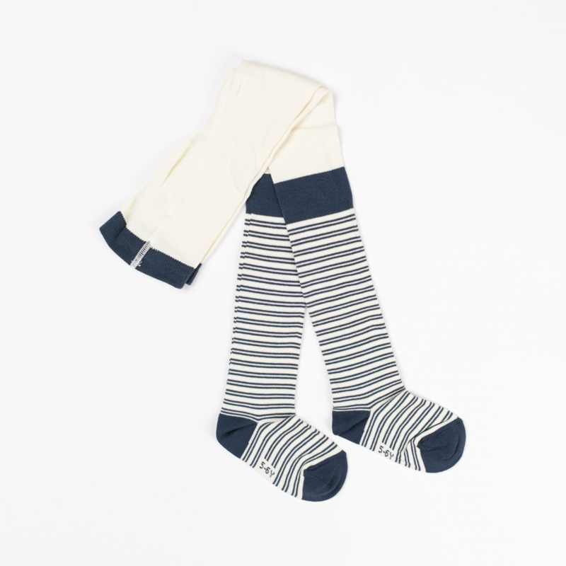 Alba - Karla Tights Dark Denim Striped 1/2 jaar