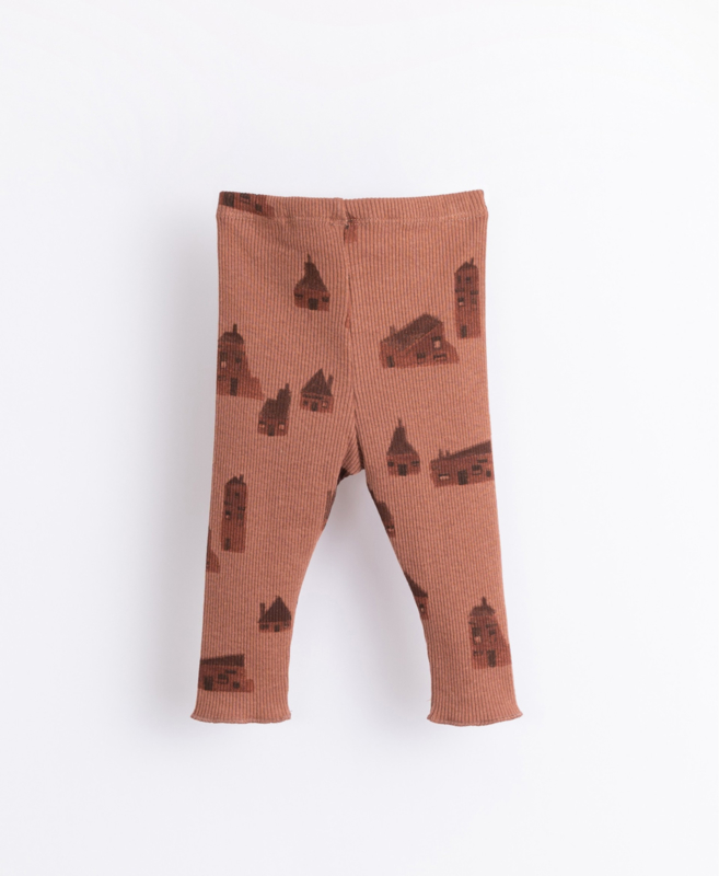 Play Up - Leggings with Houses Print Sanguine
