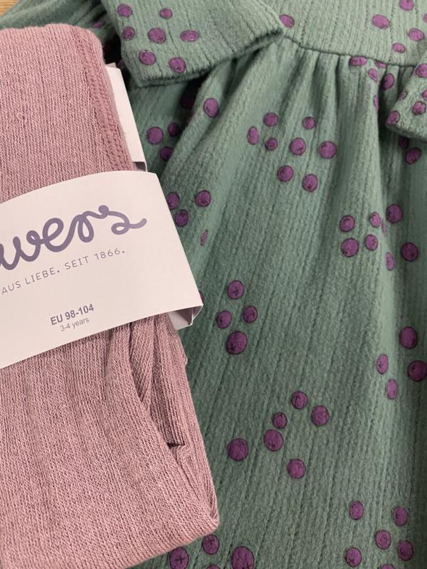 Lötiekids - Dress Waist Seam Blueberries Green
