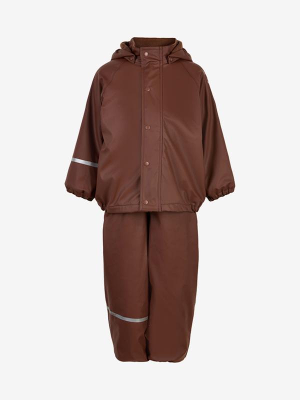 Celavi - Rainwear Set Solid fleece Rocky Road