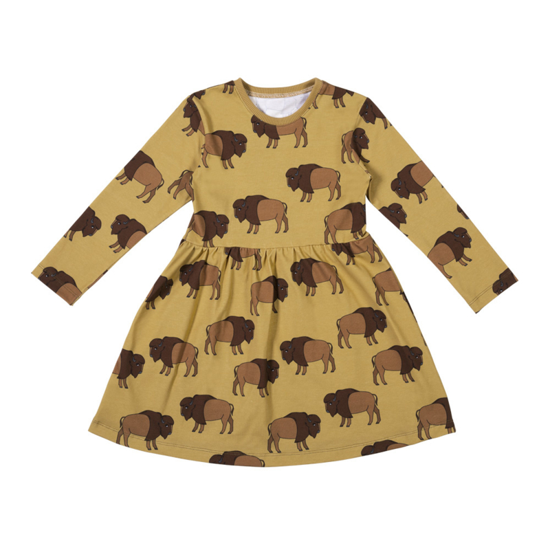 Malinami - Longsleeve Dress Bison on Mustard