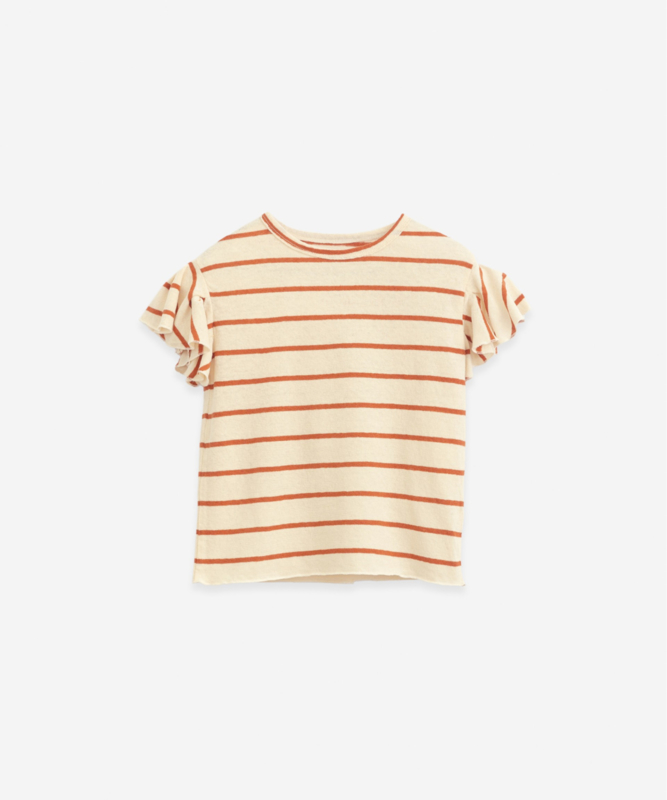 Play Up - Shirt Striped Ruches Anise
