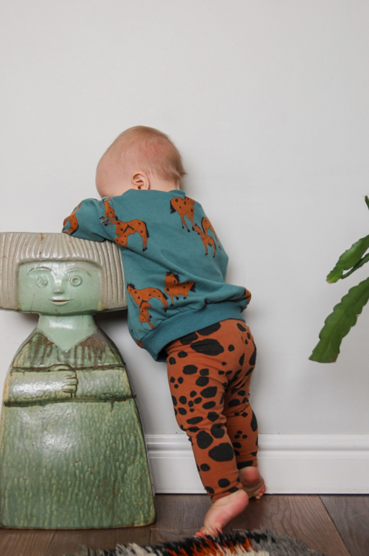 Lötiekids - Baby Sweatshirt Horses Green