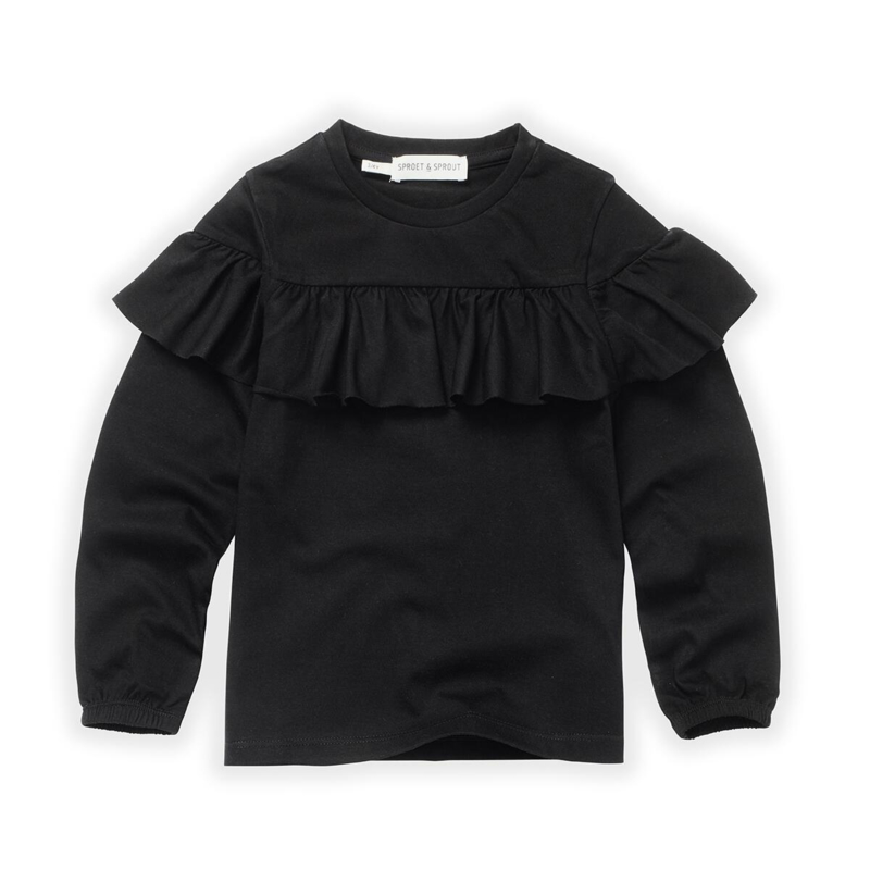 Sproet&Sprout - T-Shirt Ruffle Black
