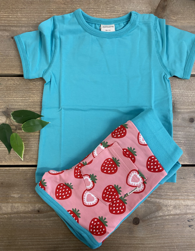 Maxomorra - Runner Shorts Sweat Strawberry
