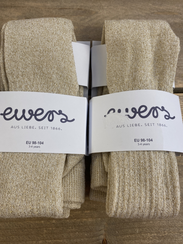 Ewers - Kousenbroek met Ribmotief en Glitter Scin