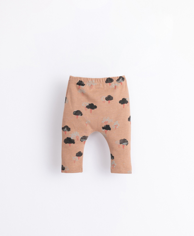 Play Up - Leggings in Organic Cotton with Trees Print Paper