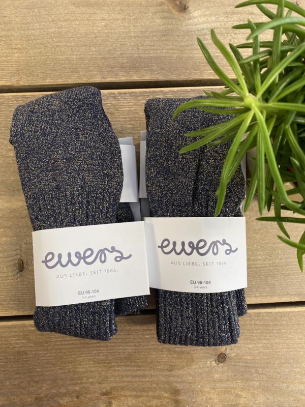Ewers - Kousenbroek met Ribmotief en Glitter Oliv Scin