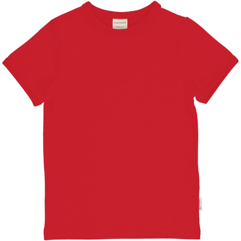 Maxomorra - Top Short Sleeves Solid Ruby