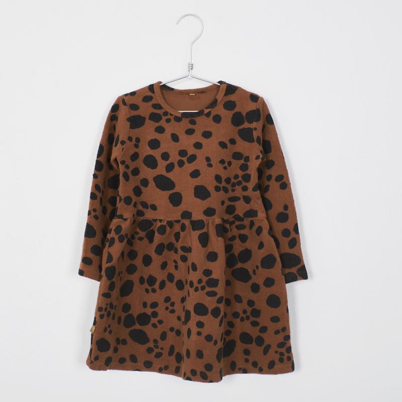 Lötiekids - Dress Waist Seam Dots Cinnamon