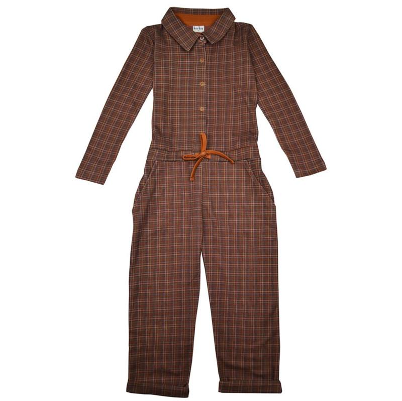 Baba -Aster Jumpsuit Brown Check