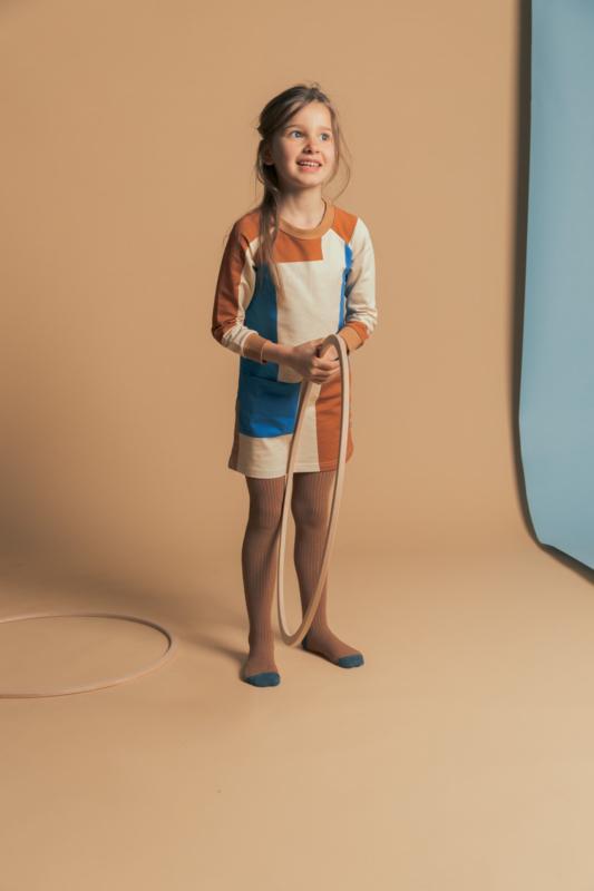 Ba*Ba Kidswear - Tights Brown Sugar Stripe