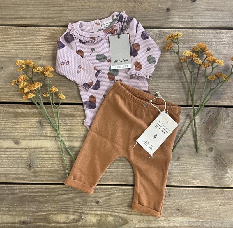 Minymo - Body LS AOP Rib Keepsake Lilac