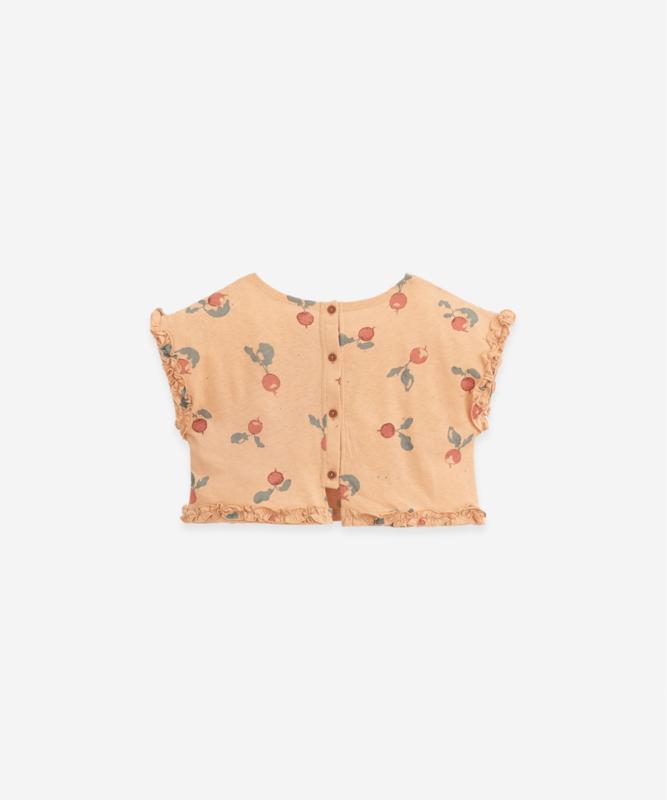 Play Up - T-Shirt with Frill Radish