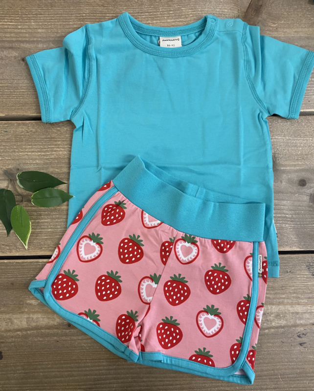 Maxomorra - Runner Shorts Strawberry
