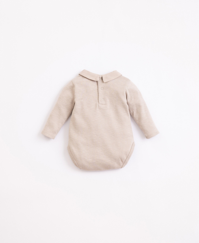 Play Up - Body in Organic Cotton with a Woven Collar Simplicity