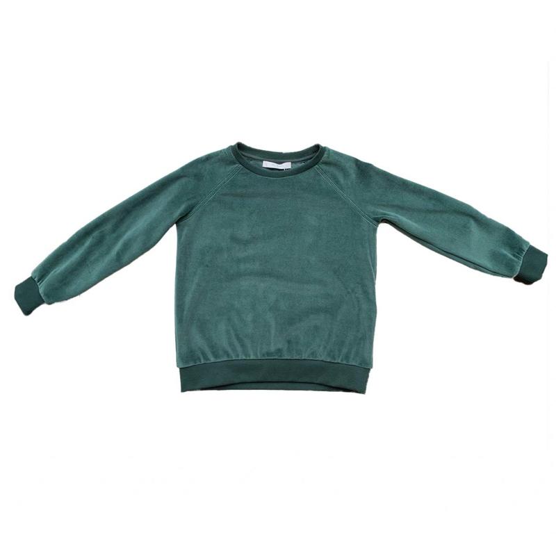 BY-BAR - Girls Teddy Velvet Sweater Green