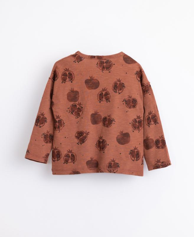 Play Up - T-Shirt with Pomegranates Print Sanguine