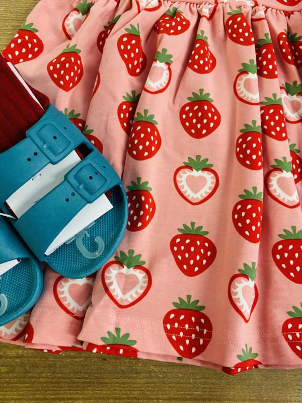 Maxomorra - Dress Spin No Sleeves Strawberry