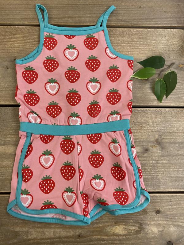 Maxomorra - Jumpsuit Short Strawberry