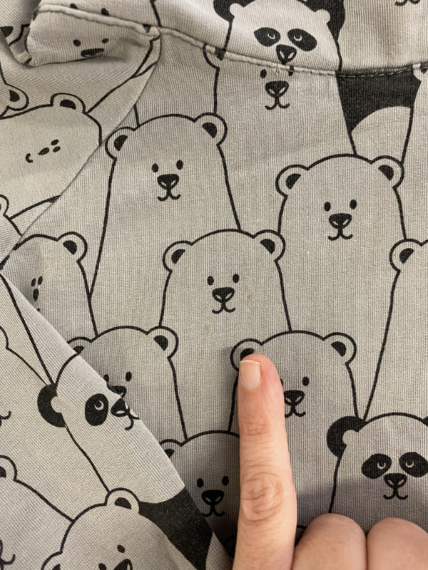 Malinami - Hoodie Grey Bear 98/104
