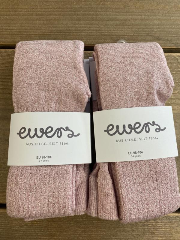 Ewers - Kousenbroek met Ribmotief en Glitter Rosa Scin