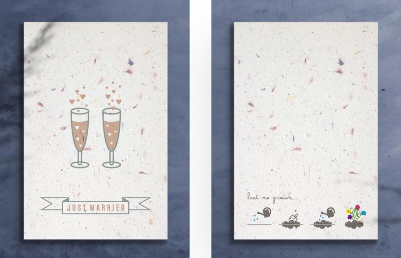Groeikaart - Just Married