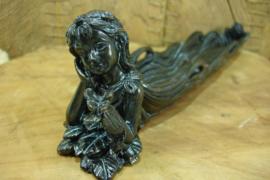 *[ N-0536 ] Wierook Houder Cupido 26 cm. Zwart