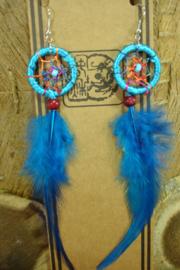 [ N-0488 ] Oorbel dromenvanger Blauw