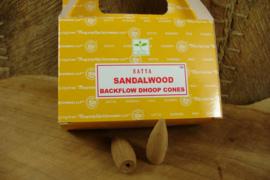 [ N-0375 ] Backflow kegeltjes; Sandalwood, per 8 stuks