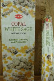 [ N-0462 ] White Sage Copal Wierook, per rol á 20 stokjes
