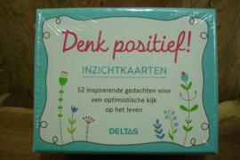*[ N-0478 ] Kaarten; Denk positief Inzichtkaarten