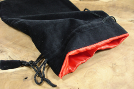 [ N-0427 ]  Kaarten tasje, Zwart Fluweel met rode voering