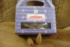 [ N-0374 ] Backflow kegeltjes; Lavendel, per 8 stuks