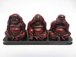 [ N-0235 ] Boeddha Rood, Horen Zien en Zwijgen op plank