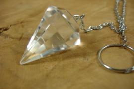 [ N-0456 ] Pendel Bergkristal  3 x 2.2 cm.