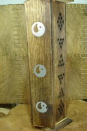 *[ N-0542 ] Wierook houder Toren 31 cm. Yin Yang