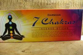 [ N-0330 ] Darshan wierook; 7 CHAKRAS, buisje á 20 stokjes